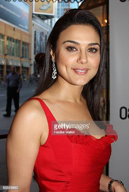 Actress Preity Zinta arrives at the 'Heaven on Earth' Premiere held at The Visa Screening Room at the Elgin Theatre during the 2008 Toronto...