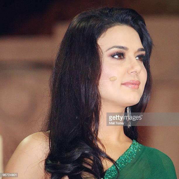 Actress Preity Zinta at the Apsara awards ceremony in Mumbai on Friday January 8 2010