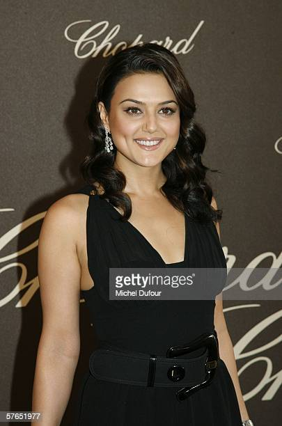 Actress Preity Zinta attends a Chopard party at Nikki Beach during the 59th International Cannes Film Festival May 18, 2006 in Cannes, France.