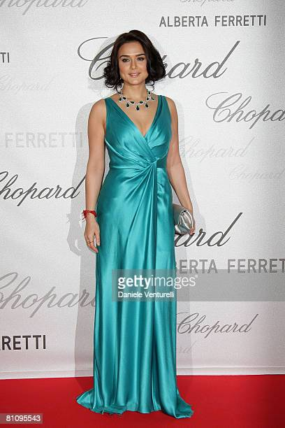 Actress Preity Zinta attends the Soiree Chopard photocall during the 2008 Cannes Film Festival on May 14 2008 in Cannes France