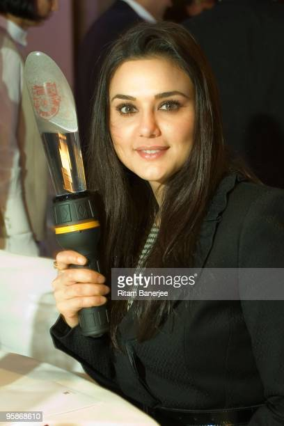Actress Preity Zinta, co-owner of Kings XI Punjab poses at the Indian Premier League Auction 2010 on January 19, 2010 in Mumbai, India.