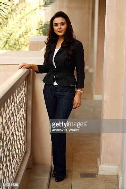 Actress Preity Zinta during a portrait session on day two of The 5th Annual Dubai International Film Festival held at the Al Qasr Jumeirah Hotel on...