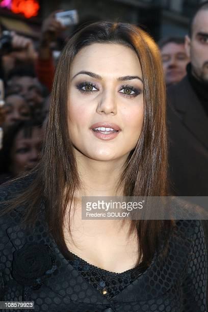 Actress Preity Zinta in ParisFrance on April 262006