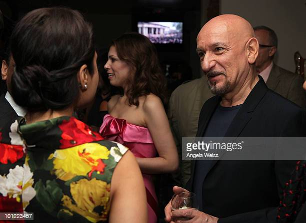 Actress Priety Zinta and Sir Ben Kingsley attend Sir Ben Kingsley's Walk of Fame Star celebration at Nirvana Beverly Hills on May 27 2010 in Beverly...