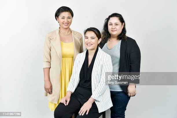 Actress Princess Punzalan director/writer Diane Paragas and producer Cecilia Mejia from 'Yellow Rose' are photographed at the Los Angeles Asian...