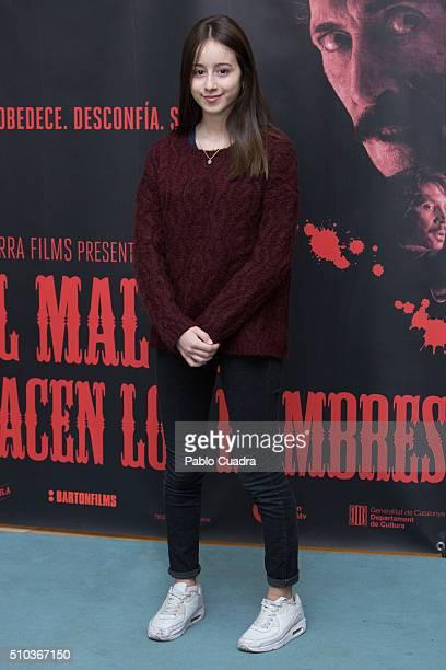 Actress Priscila Delgado attends the 'El Mal Que Hacen Los Hombres' photocall at the Palafox Cinema on February 15 2016 in Madrid Spain