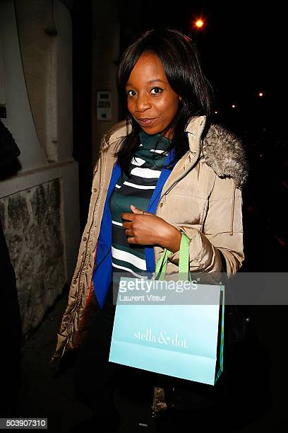 Actress Priscilla Adade attends the Launch of Kelly Vedoveli's blog at Bridge Club on January 7 2016 in Paris France