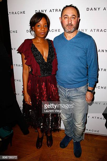 Actress Priscilla AdadeHelledy and Designer Dany Atrache attend the Dany Atrache Spring Summer 2016 show as part of Paris Fashion Week on January 25...