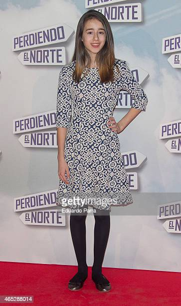 Actress Priscilla Delgado attends 'Perdiendo el norte' premiere photocall at Capitol cinema on March 5 2015 in Madrid Spain
