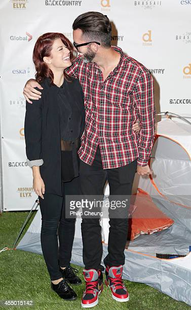 Actress Priscilla Faia and Eric Blackmon attend the 'Backcountry' world premiere party during the 2014 Toronto International Film Festival at...