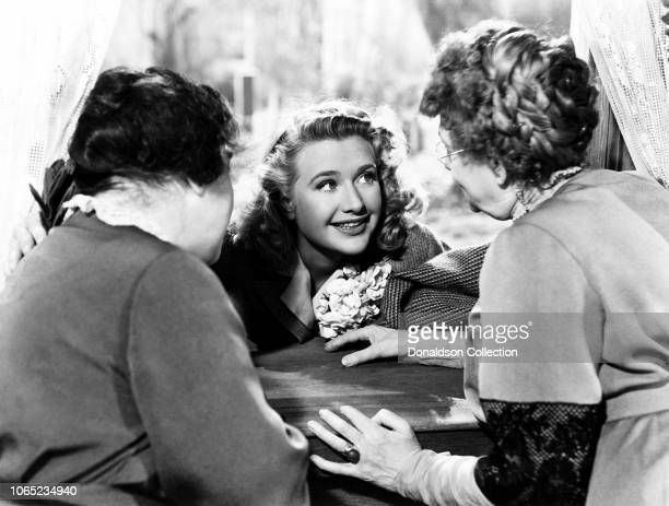 Actress Priscilla Lane in a scene from the movie Arsenic and Old Lace