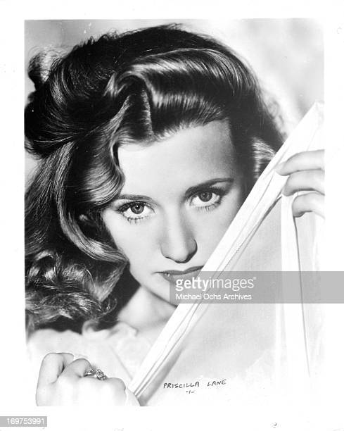 Actress Priscilla Lane poses for a portrait in circa 1938