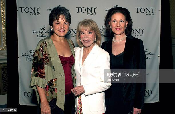 Actress Priscilla Lopez American Theater Wing Chairman Sondra Gilman and actress Kelly Bishop attend The Tony Awards Honor Presenters And Nominees at...