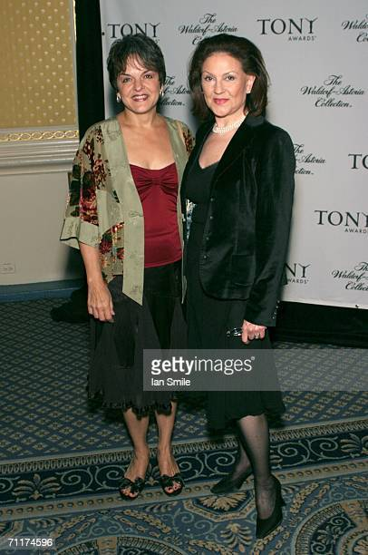 Actress Priscilla Lopez and actress Kelly Bishop attend The Tony Awards Honor Presenters And Nominees at the Waldorf Astoria on June 10 2006 in New...