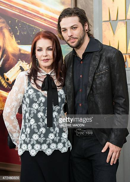 Actress Priscilla Presley and musician Navarone Garibaldi attend the premiere of Warner Bros. Pictures 'Mad Max: Fury Road' at TCL Chinese Theatre,...