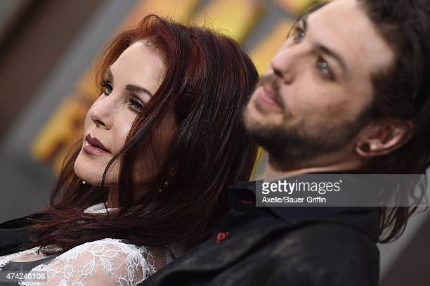 Actress Priscilla Presley and son musician Navarone Garibaldi arrive at the Los Angeles premiere of 'Mad Max: Fury Road' at TCL Chinese Theatre IMAX...