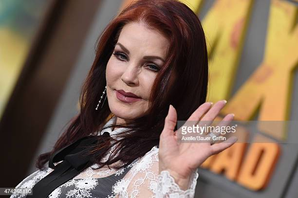 Actress Priscilla Presley arrives at the Los Angeles premiere of 'Mad Max Fury Road' at TCL Chinese Theatre IMAX on May 7 2015 in Hollywood California