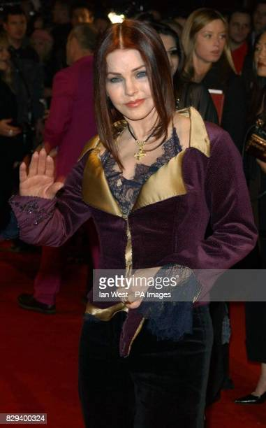 Actress Priscilla Presley arrives for the UK Music Hall Of Fame live final at the Hackney Empire in east London The Channel 4 series looking at...