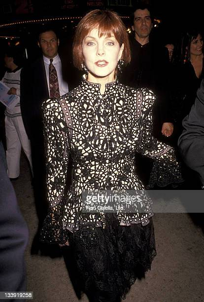 Actress Priscilla Presley attend 'The Naked Gun 2½ The Smell of Fear' Westwood Premiere on June 27 1991 at Mann Bruin Theatre in Westwood California