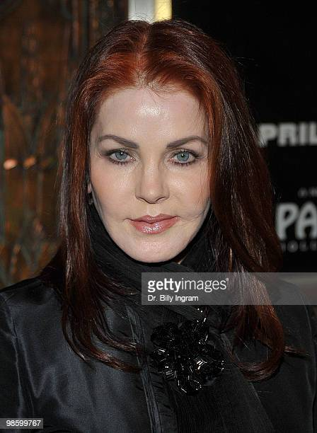 Actress Priscilla Presley attends the opening night of the play 'Chicago' at the Pantages Theatre on April 21 2010 in Hollywood California