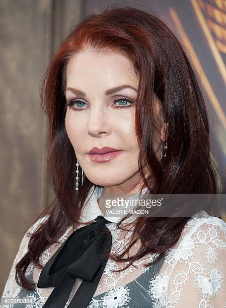 Actress Priscilla Presley attends the premiere of Warner Bros. Pictures 'Mad Max: Fury Road' at TCL Chinese Theatre, in Los Angeles, California, May...