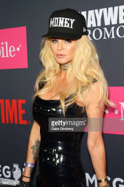 Actress Priscilla Taylor arrives on TMobile's magenta carpet duirng the Showtime WME IME and Mayweather Promotions VIP PreFight Party for Mayweather...