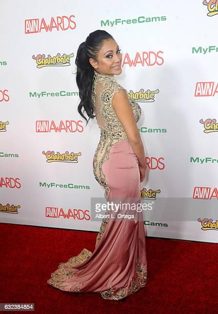 Actress Priya Rai arrives at the 2017 Adult Video News Awards held at the Hard Rock Hotel Casino on January 21 2017 in Las Vegas Nevada