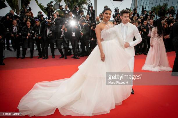 """Actress Priyanka Chopra and her husband Nick Jonas attend the screening of """"Les Plus Belles Annees D'Une Vie"""" during the 72nd annual Cannes Film..."""
