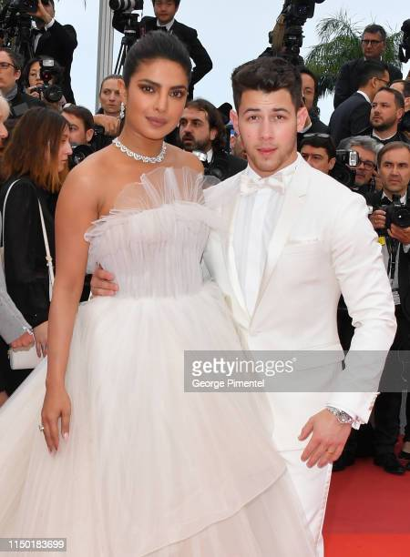 Actress Priyanka Chopra and her husband Nick Jonas attend the screening of Les Plus Belles Annees D'Une Vie during the 72nd annual Cannes Film...