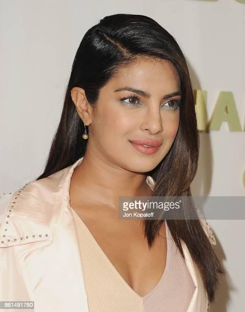 Actress Priyanka Chopra arrives at Bottega Veneta Hosts Hammer Museum Gala In The Garden on October 14 2017 in Westwood California