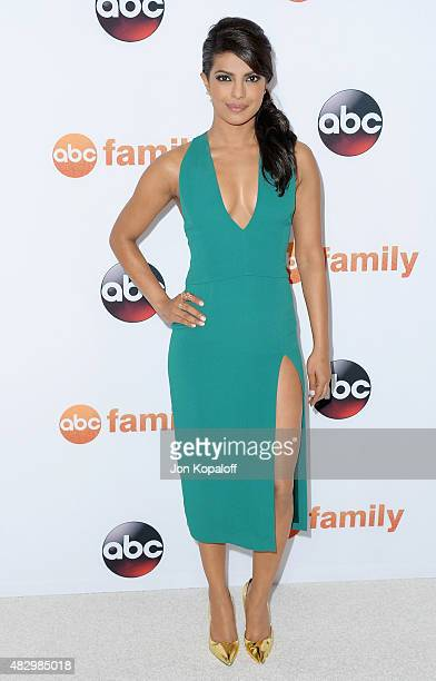 Actress Priyanka Chopra arrives at Disney ABC Television Group's 2015 TCA Summer Press Tour at the Beverly Hilton Hotel on August 4 2015 in Beverly...