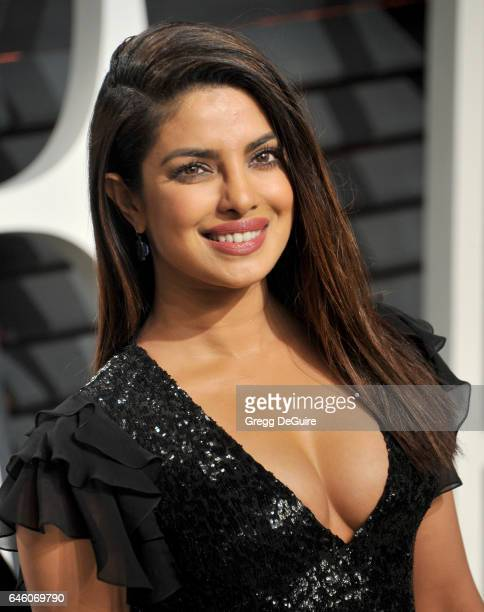Actress Priyanka Chopra arrives at the 2017 Vanity Fair Oscar Party Hosted By Graydon Carter at Wallis Annenberg Center for the Performing Arts on...
