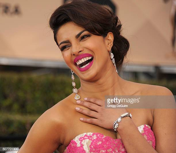 Actress Priyanka Chopra arrives at the 22nd Annual Screen Actors Guild Awards at The Shrine Auditorium on January 30 2016 in Los Angeles California