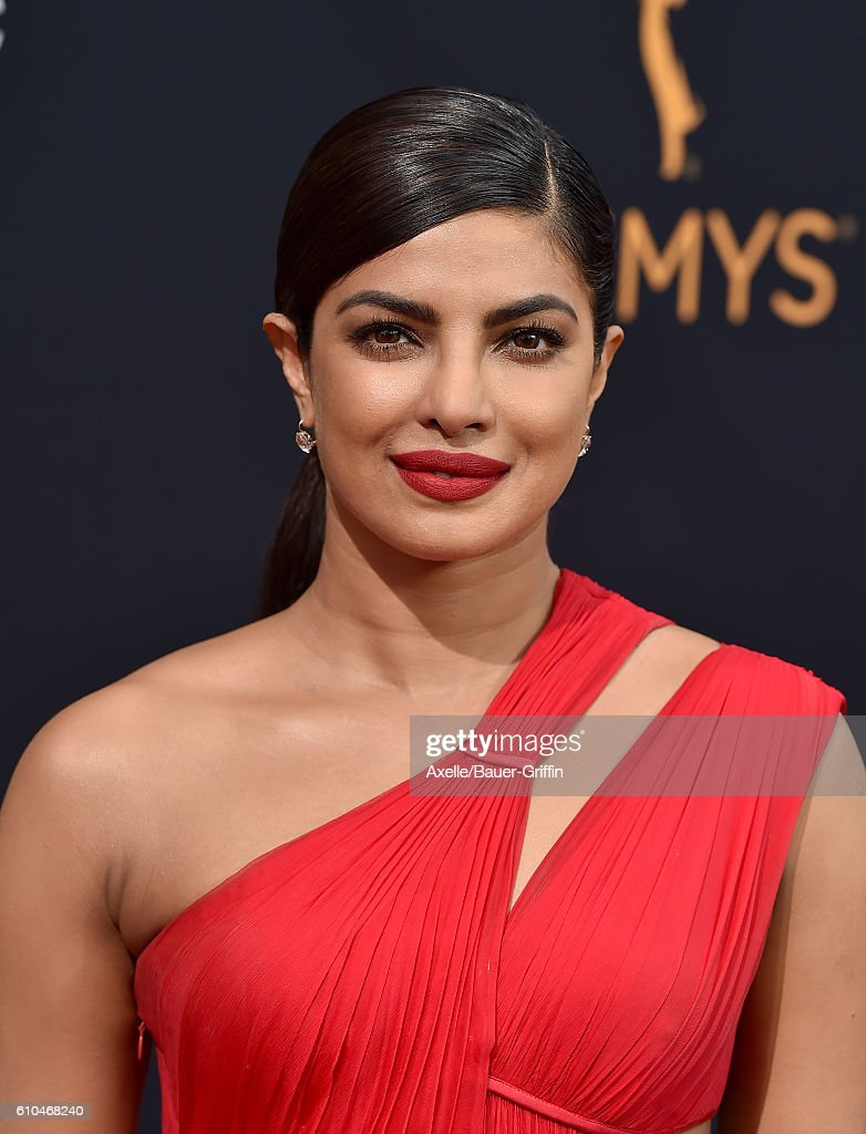 Actress Priyanka Chopra arrives at the 68th Annual Primetime Emmy Awards at Microsoft Theater on September 18, 2016 in Los Angeles, California.