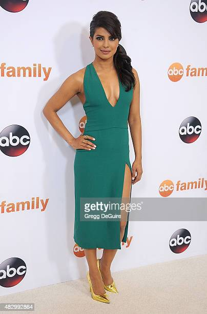 Actress Priyanka Chopra arrives at the Disney ABC Television Group's 2015 TCA Summer Press Tour on August 4 2015 in Beverly Hills California
