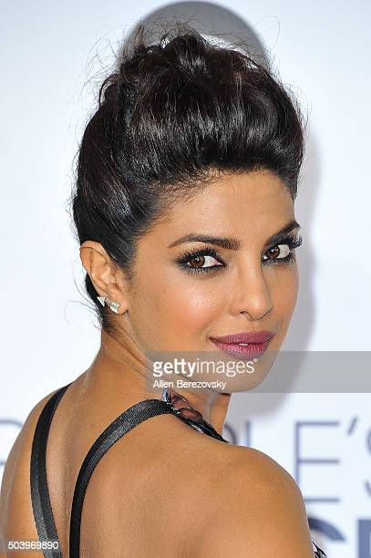 Actress Priyanka Chopra arrives at the People's Choice Awards 2016 at Microsoft Theater on January 6 2016 in Los Angeles California