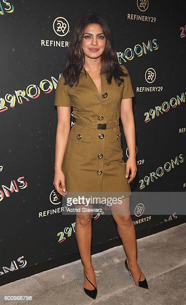 Actress Priyanka Chopra attends Refinery29's Second Annual New York Fashion Week Event '29Rooms' on September 8 2016 in Brooklyn New York