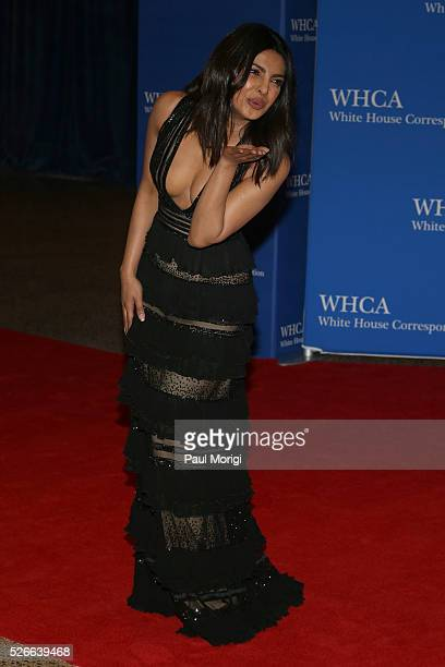 Actress Priyanka Chopra attends the 102nd White House Correspondents' Association Dinner on April 30 2016 in Washington DC