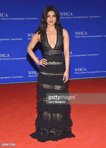 Actress Priyanka Chopra attends the 102nd White House Correspondents' Association Dinner on April 30 2016 in Washington DC