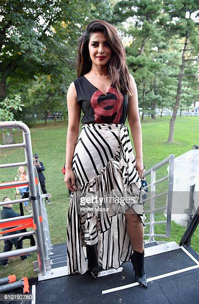 Actress Priyanka Chopra attends the 2016 Global Citizen Festival In Central Park To End Extreme Poverty By 2030 at Central Park on September 24 2016...