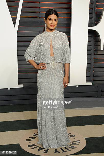 Actress Priyanka Chopra attends the 2016 Vanity Fair Oscar Party hosted By Graydon Carter at Wallis Annenberg Center for the Performing Arts on...