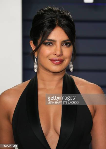 Actress Priyanka Chopra attends the 2019 Vanity Fair Oscar Party following the 91st Academy Awards at The Wallis Annenberg Center for the Performing...