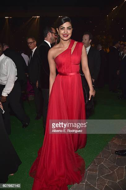 Actress Priyanka Chopra attends the 68th Annual Primetime Emmy Awards Governors Ball at Microsoft Theater on September 18, 2016 in Los Angeles,...