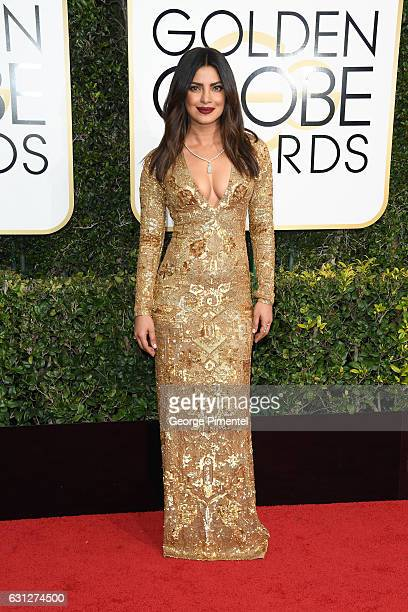 Actress Priyanka Chopra attends the 74th Annual Golden Globe Awards held at The Beverly Hilton Hotel on January 8, 2017 in Beverly Hills, California.