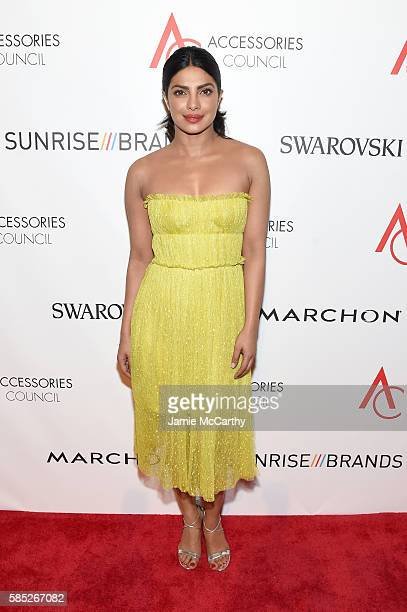 Actress Priyanka Chopra attends the Accessories Council 20th Anniversary celebration of the ACE awards at Cipriani 42nd Street on August 2 2016 in...