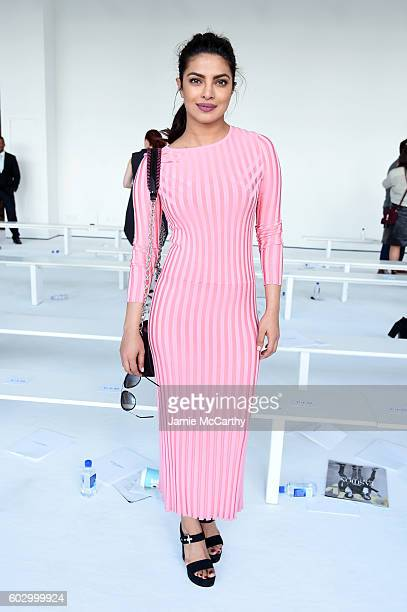 Actress Priyanka Chopra attends the Altuzarra fashion show during New York Fashion Week September 2016 at Spring Studios on September 11 2016 in New...