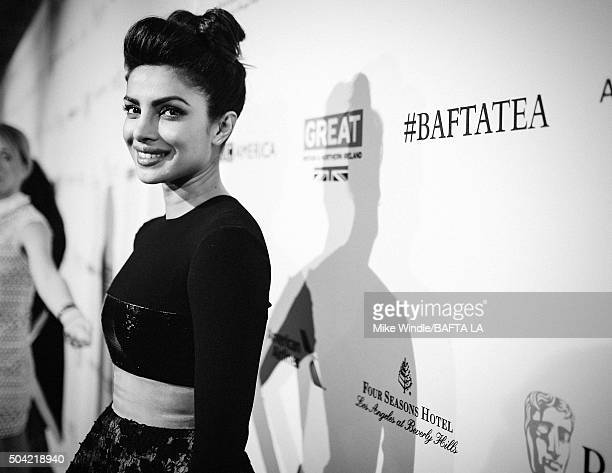 Actress Priyanka Chopra attends the BAFTA Los Angeles Awards Season Tea at Four Seasons Hotel Los Angeles at Beverly Hills on January 9 2016 in Los...