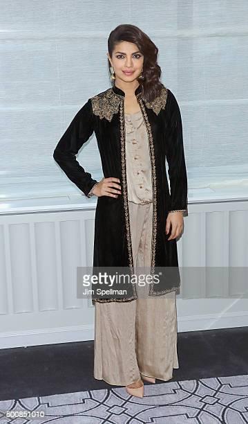 Actress Priyanka Chopra attends the 'Bajirao Mastani' New York press junket at Regency Hotel on December 10 2015 in New York City