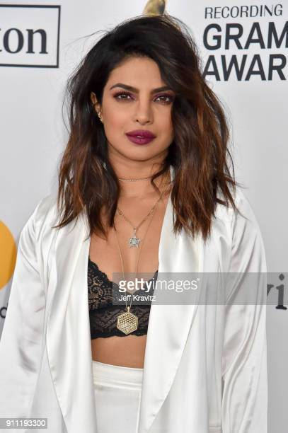 Actress Priyanka Chopra attends the Clive Davis and Recording Academy PreGRAMMY Gala and GRAMMY Salute to Industry Icons Honoring JayZ on January 27...