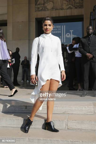 Actress Priyanka Chopra attends the Giorgio Armani Prive fashion show during Haute Couture Fall/Winter 20172018 on July 4 2017 in Paris France